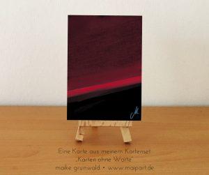 """Eine Karte aus dem Kartenset """"Karten ohne Worte"""" von Maike Grunwald."""