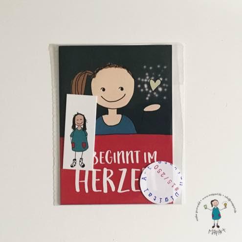 """Kunst-Kartenset """"Es beginnt im Herzen"""""""