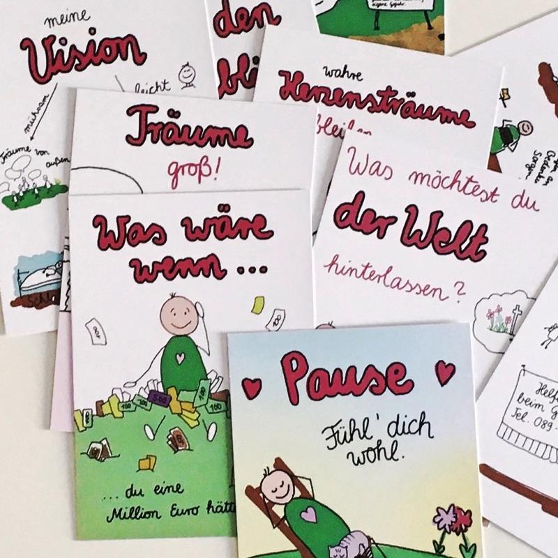 10 Impulse, an deinen Träumen dranzubleiben. Ein Kartenset.