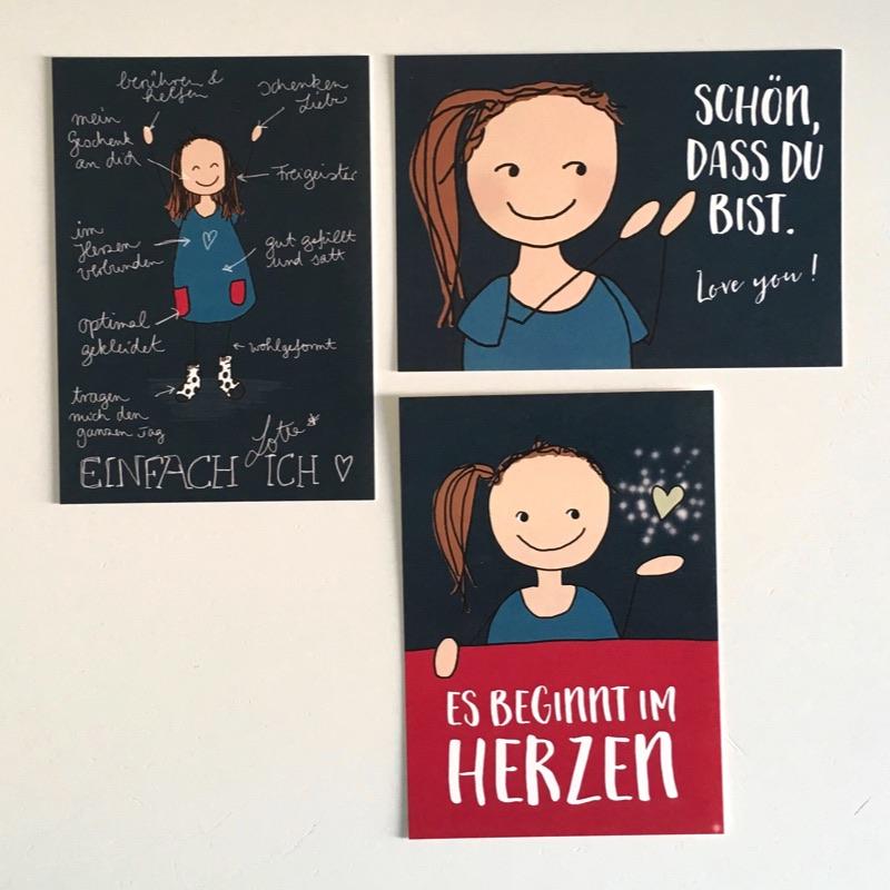 """Kunst Kartenset: """"Es beginnt im Herzen"""""""