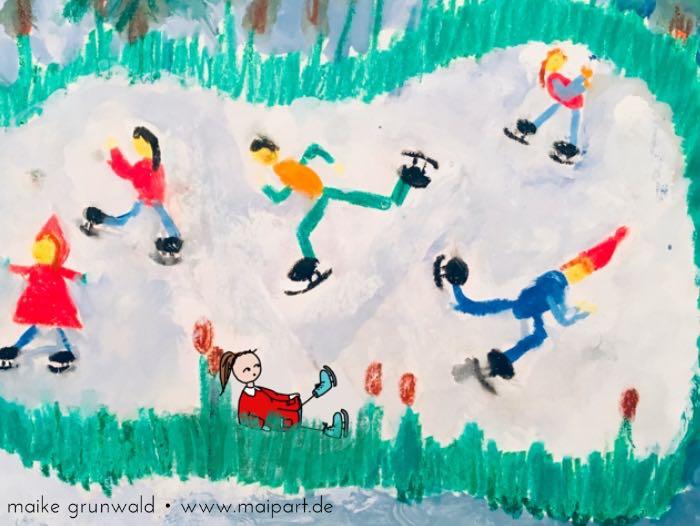 Lotte beim Schlittschuh-Laufen