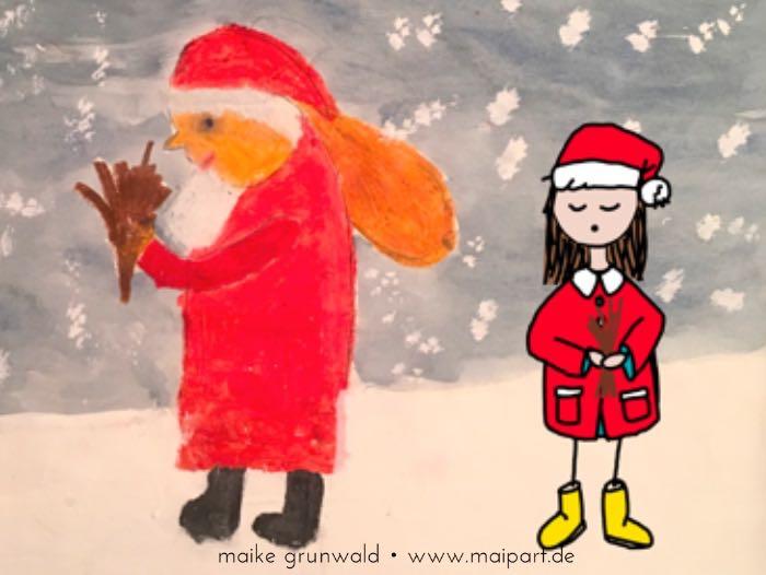Lotte trifft den Weihnachtsmann…